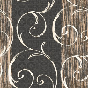 LD80600 Seabrook Lux Decor Notting Hill Stripe Wallpaper Black Gold