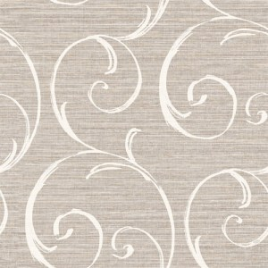 LD82008 Seabrook Lux Decor Notting Hill Scroll Wallpaper Dark Gray