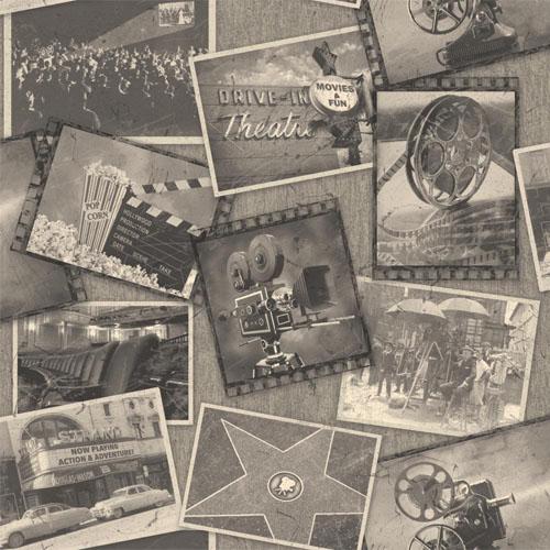 MW9222 Carey Lind Menswear Screening Room Sure Strip Wallpaper Gunmetal