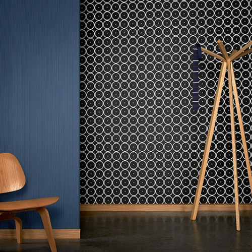 RAffi My Home Bamboo Circles Wallpaper Roomset