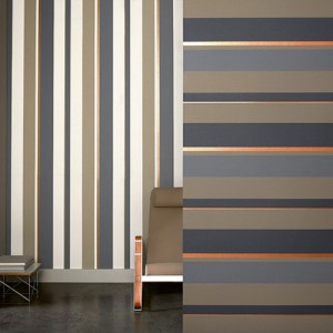 Raffi My Home Vision Stripe Wallpaper Roomset