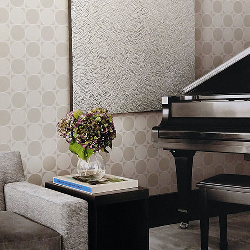 Seabrook Lux Decor Westover Wallpaper Roomset