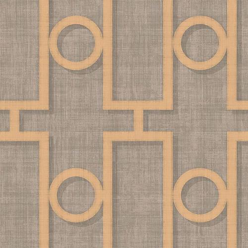 NE5060 Seabrook Nouveau Luxe Adorn Geo Wallpaper Pewter Gold