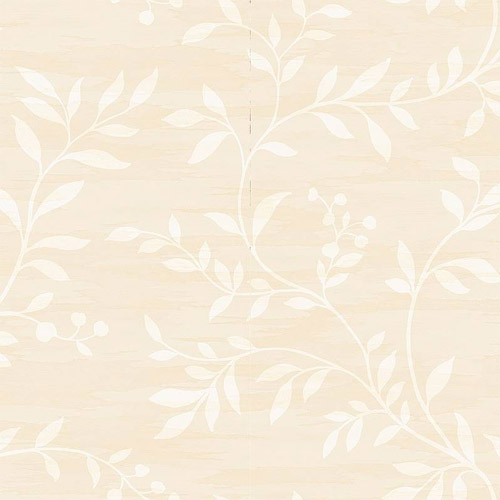 NE50807 Seabrook Nouveau Luxe Couture Leaf Scroll Wallpaper Beige