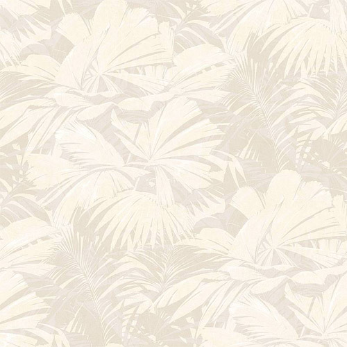 NE51308 Seabrook Nouveau Luxe Masquerade Tropical Leaf Wallpaper Gray