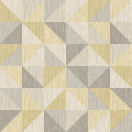 2697-22623 Brewster Wallcoverings Geometrie Puzzle Geometric Wallpaper Yellow
