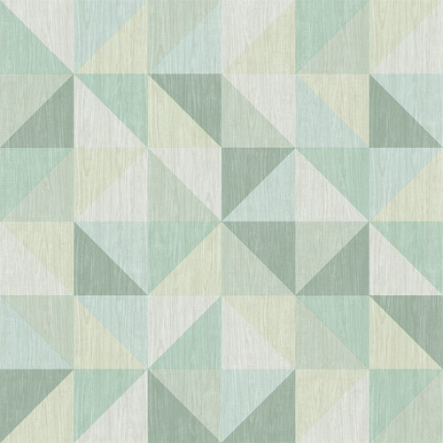 2697-22624 Brewster Wallcoverings Geometrie Puzzle Geometric Wallpaper Green