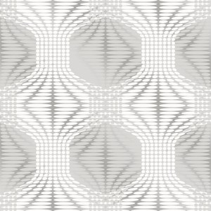 2697-22628 Brewster Wallcoverings Geometrie Optic Geometric Wallpaper Silver