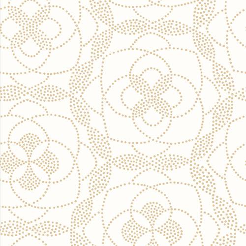 2697-22635 Brewster Wallcoverings Geometrie Cosmos Dot Wallpaper Gold