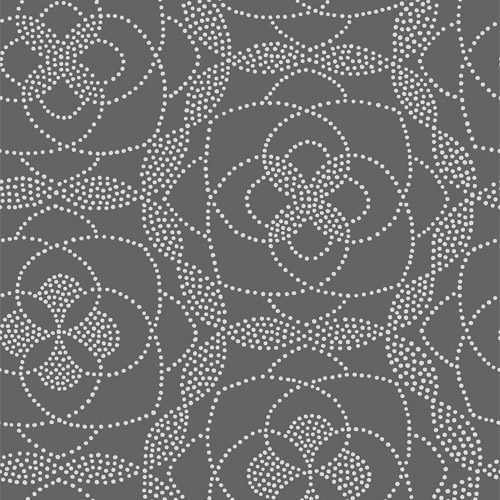 2697-22636 Brewster Wallcoverings Geometrie Cosmos Dot Wallpaper Charcoal