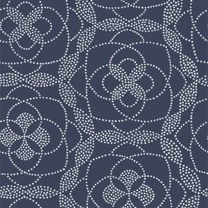 2697-22637 Brewster Wallcoverings Geometrie Cosmos Dot Wallpaper Blue