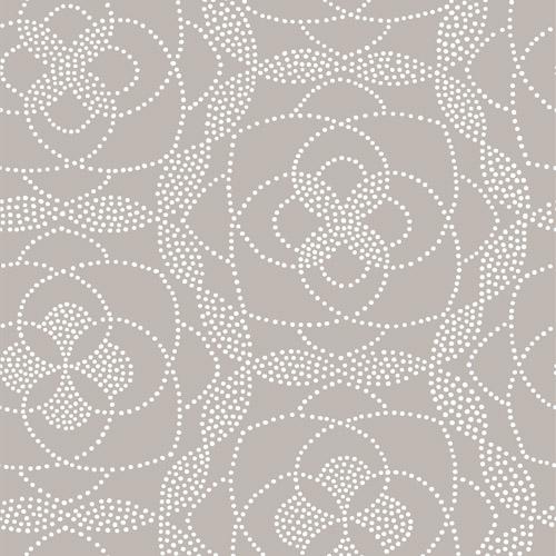 2697-22638 Brewster Wallcoverings Geometrie Cosmos Dot Wallpaper Light Grey