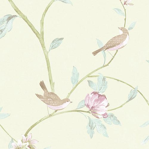 CG28804 Patton Wallcoverings Rose Garden 2 Spring Floral Wallpaper Mint