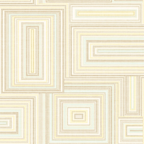 LG90505 Seabrook Wallcoverings Lugano Attersee Squares Wallpaper Neutral