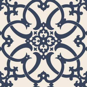 PV2988 York Ronald Redding Legacy Antiquity Wallpaper Midnight Blue