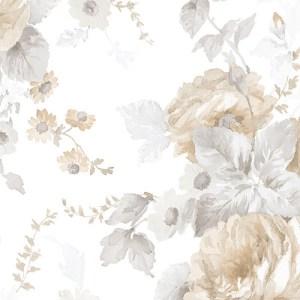 Cabbage Rose Wallpaper Lelands Wallpaper
