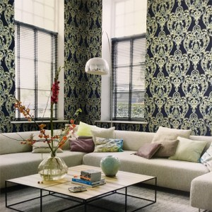 Seabrook Wallcoverings Lugano Roxen Damask Wallpaper Roomset