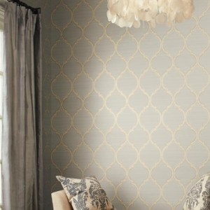 York Ronald Redding Legacy Silk Trellis Wallpaper Roomset