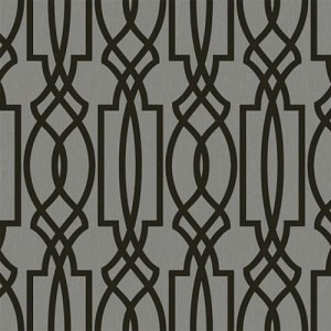 TR60010 Seabrook Wallcoverings Trois Iron Work Wallpaper Silver