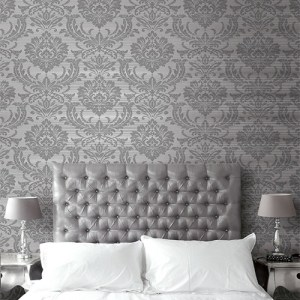Seabrook Wallcoverings Trois Acanthus Damask Wallpaper Roomset