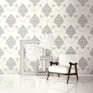 Seabrook Wallcoverings Trois French Damask Wallpaper Roomset