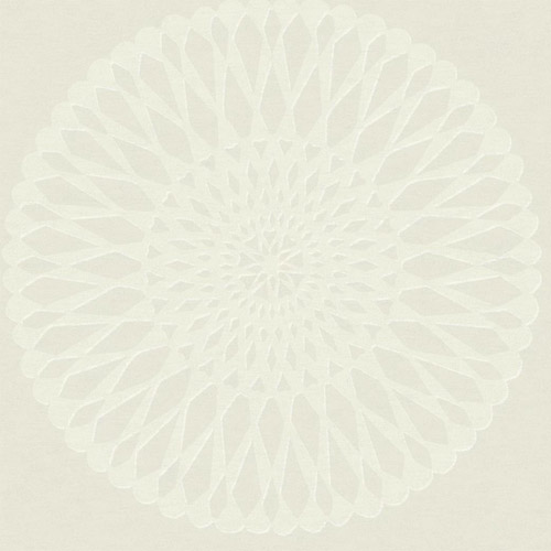 TR61103 Seabrook Wallcoverings Trois Starburst Medallion Wallpaper Pearl