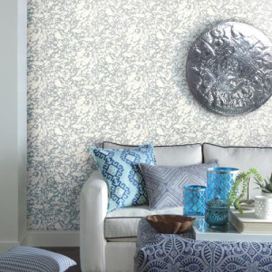 York Wallcoverings Antonina Vella Kashmir Marble Wallpaper Roomset