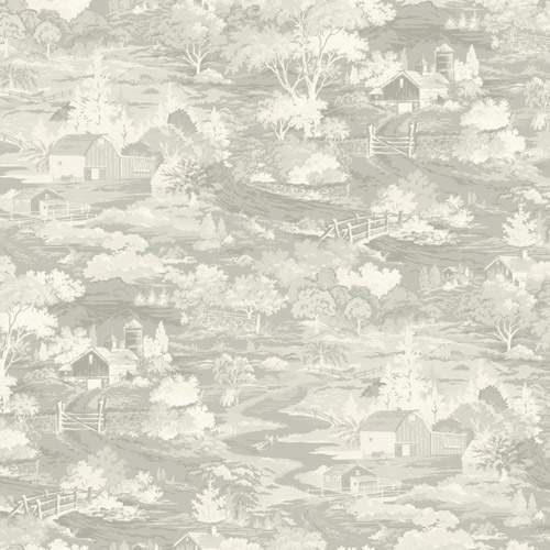 MH1501 York Wallcoverings Joanna Gaines Magnolia Home Homestead Wallpaper Light Gray