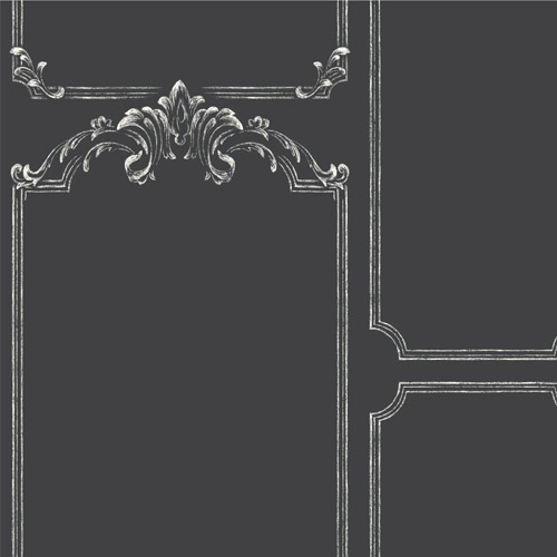 MH1532 York Wallcoverings Joanna Gaines Magnolia Home Chalkboard Wallpaper Black