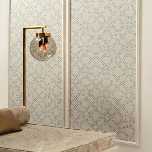 RRD7524 York Wallcoverings Ronald Redding Atelier Arabesque Wallpaper Roomset