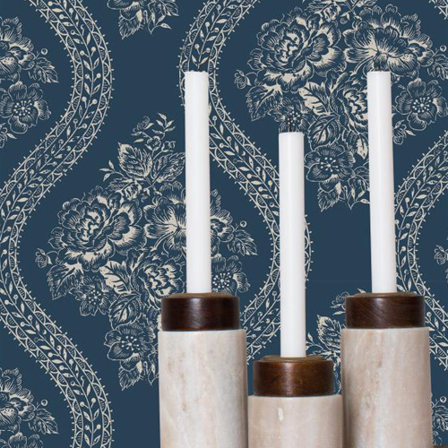 York Wallcoverings Joann Gaines Magnolia Home Coverlet Floral Wallpaper Roomset 2