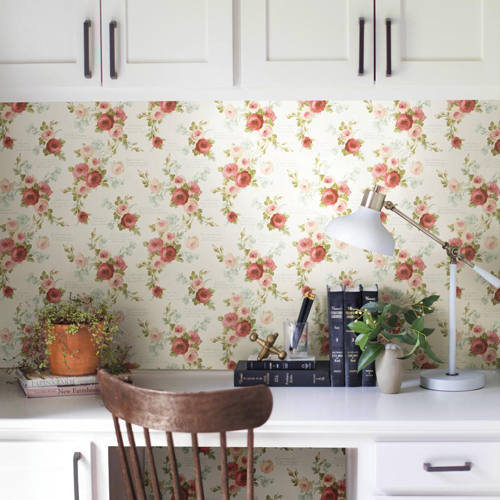 Joanna Gaines Heirloom Rose Wallpaper From Magnolia Home