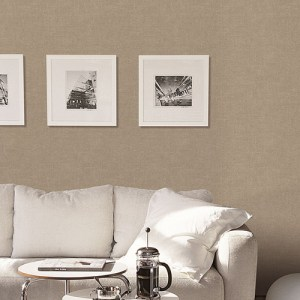 Patton Wallcoverings Natural FX Burlap Wallpaper Roomset