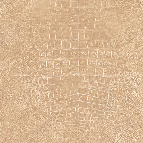 G67499 Patton Wallcoverings Natural FX Crocodile Skin Wallpaper Tan