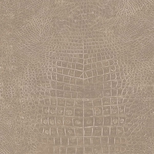 G67503 Patton Wallcoverings Natural FX Crocodile Skin Wallpaper Taupe