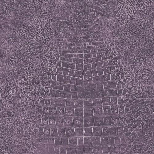 G67506 Patton Wallcoverings Natural FX Crocodile Skin Wallpaper Purple