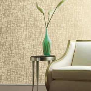 York Wallcoverings Antonina Vella Mixed Metals Butler Stone Wallpaper Roomset