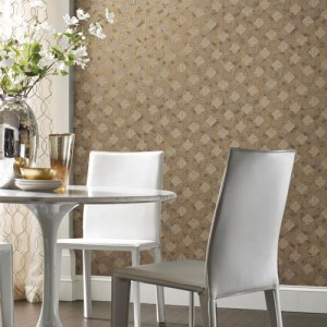 York Wallcoverings Antonina Vella Mixed Metals Navajo Wallpaper Roomset