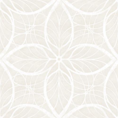 MK20505 Searbook Wallcoverings Metallika Patina Leaf Wallpaper White