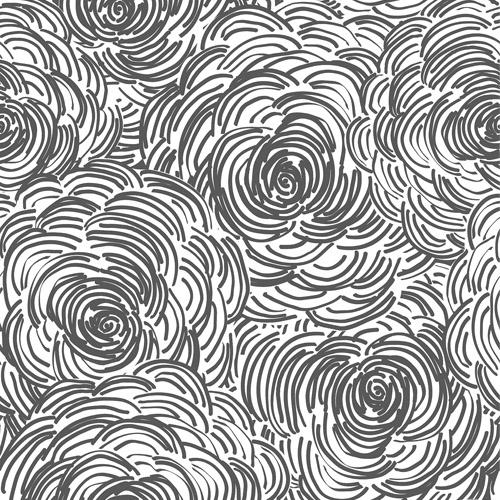2716-23833 Brewster Wallcoverings Eclipse Celestial Floral Wallpaper Black