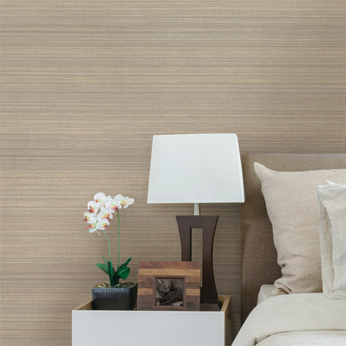 Brewster Wallcoverings Texturall 3 Fernie Challis Silk Wallpaper Roomset