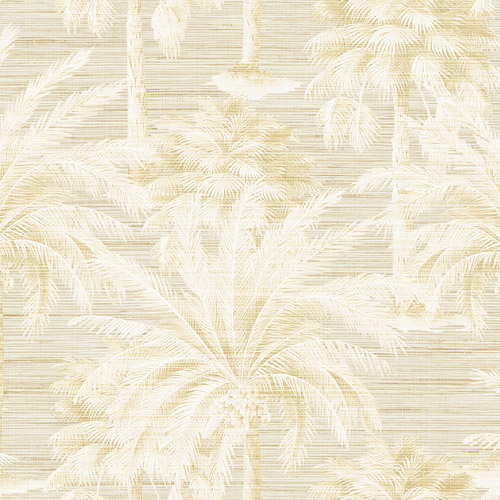 PS40003 Brewster Wallcoverings Kenneth James Palm Springs Dream Of Palm Trees Wallpaper Sand