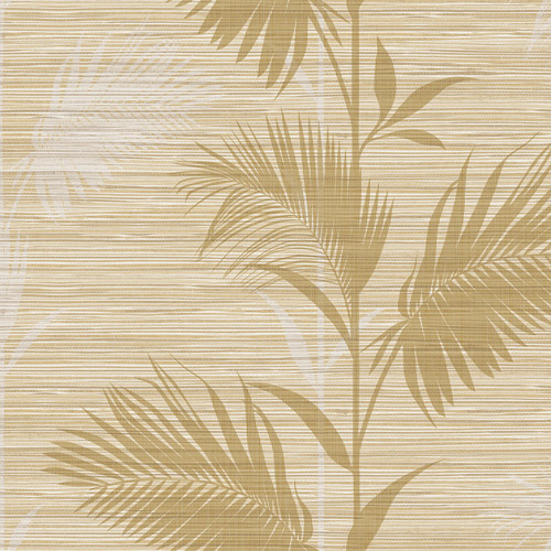PS40305 Brewster Wallcoverings Kenneth James Palm Springs Away On Holiday Wallpaper Beige