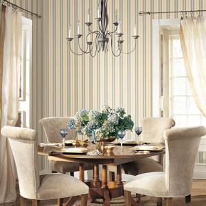 Patton Wallcoverings Stripes and Damasks 3 Classic Stripe Wallpaper Roomset