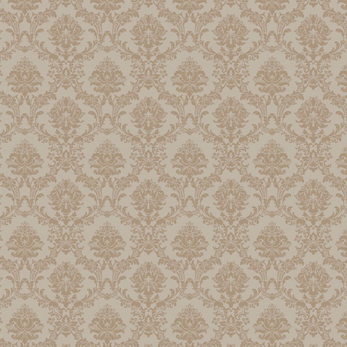 SD36138 Patton Wallcoverings Stripes and Damasks 3 Miniature Damask Wallpaper Putty