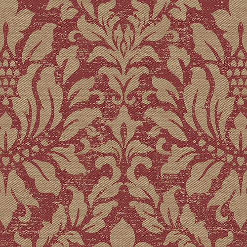 SD36139 Patton Wallcoverings Stripes and Damasks 3 Linen Acanthus Wallpaper Red