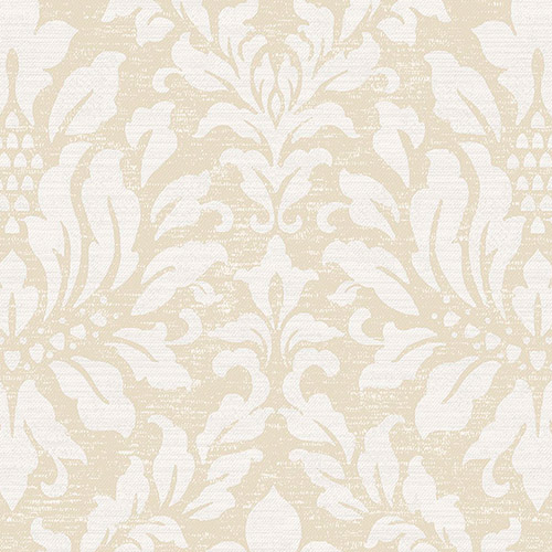 SD36144 Patton Wallcoverings Stripes and Damasks 3 Linen Acanthus Wallpaper Beige