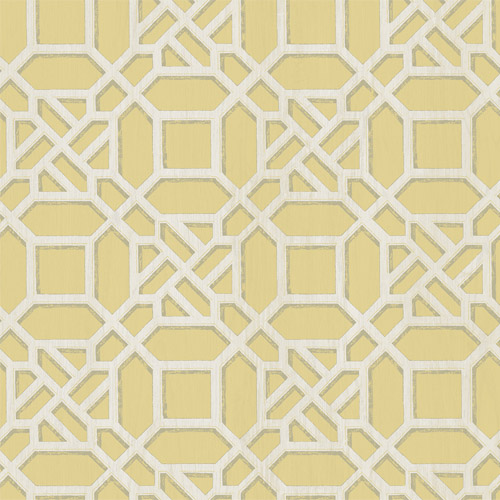 3112-002710 Brewster Wallcoverings Chesaspeake Sage Hill Adlington Geometric Wallpaper Yellow