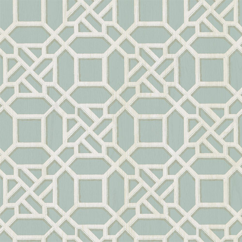 3112-002711 Brewster Wallcoverings Chesaspeake Sage Hill Adlington Geometric Wallpaper Turquoise