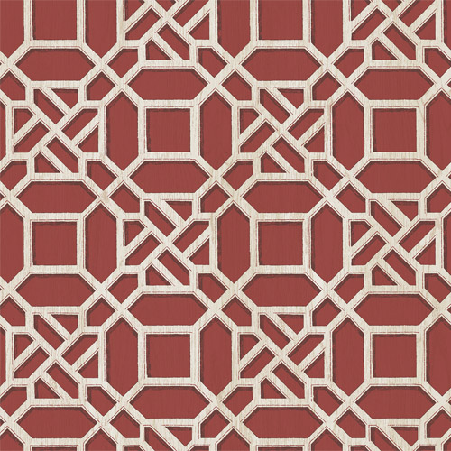 3112-002712 Brewster Wallcoverings Chesaspeake Sage Hill Adlington Geometric Wallpaper Maroon